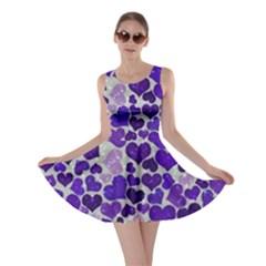 Sparkling Hearts Blue Skater Dresses