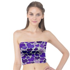 Sparkling Hearts Blue Women s Tube Tops