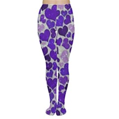 Sparkling Hearts Blue Women s Tights