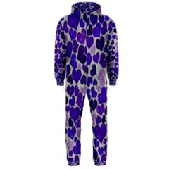 Sparkling Hearts Blue Hooded Jumpsuit (Men)