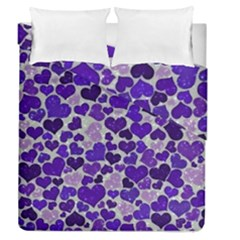 Sparkling Hearts Blue Duvet Cover (Full/Queen Size)
