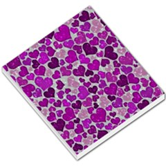 Sparkling Hearts Purple Small Memo Pads