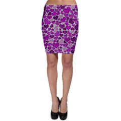 Sparkling Hearts Purple Bodycon Skirts