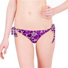 Sparkling Hearts Purple Bikini Bottoms