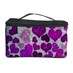 Sparkling Hearts Purple Cosmetic Storage Cases