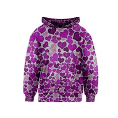Sparkling Hearts Purple Kid s Pullover Hoodies