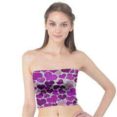 Sparkling Hearts Purple Women s Tube Tops