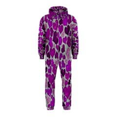 Sparkling Hearts Purple Hooded Jumpsuit (Kids)