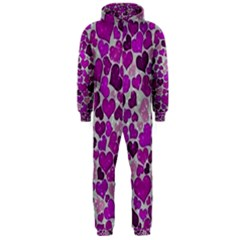 Sparkling Hearts Purple Hooded Jumpsuit (Men)