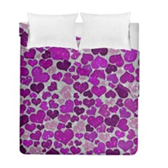 Sparkling Hearts Purple Duvet Cover (Twin Size)
