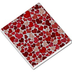 Sparkling Hearts, Red Small Memo Pads