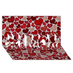 Sparkling Hearts, Red #1 MOM 3D Greeting Cards (8x4)