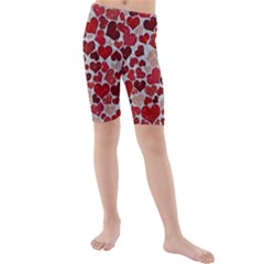 Sparkling Hearts, Red Kid s swimwear