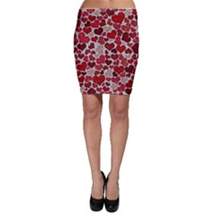 Sparkling Hearts, Red Bodycon Skirts
