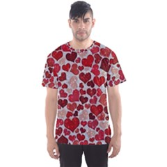Sparkling Hearts, Red Men s Sport Mesh Tees