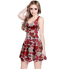 Sparkling Hearts, Red Reversible Sleeveless Dresses
