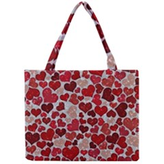 Sparkling Hearts, Red Tiny Tote Bags