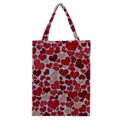 Sparkling Hearts, Red Classic Tote Bags