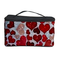 Sparkling Hearts, Red Cosmetic Storage Cases