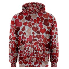 Sparkling Hearts, Red Men s Pullover Hoodies