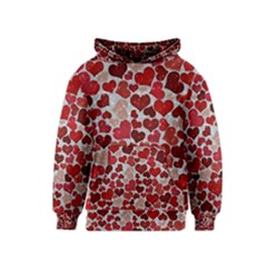 Sparkling Hearts, Red Kid s Pullover Hoodies