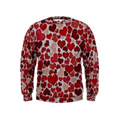 Sparkling Hearts, Red Boys  Sweatshirts