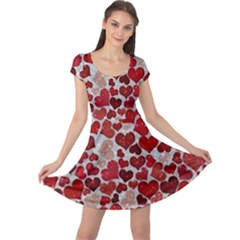 Sparkling Hearts, Red Cap Sleeve Dresses