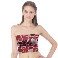 Sparkling Hearts, Red Women s Tube Tops