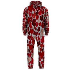 Sparkling Hearts, Red Hooded Jumpsuit (Men)