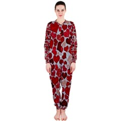 Sparkling Hearts, Red OnePiece Jumpsuit (Ladies)