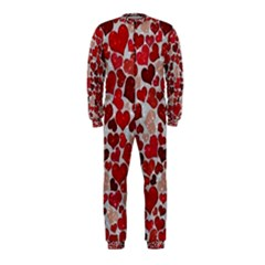 Sparkling Hearts, Red OnePiece Jumpsuit (Kids)
