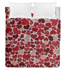 Sparkling Hearts, Red Duvet Cover (Full/Queen Size)