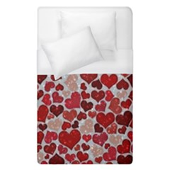 Sparkling Hearts, Red Duvet Cover Single Side (Single Size)
