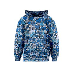 Hearts And Checks, Blue Kid s Pullover Hoodies