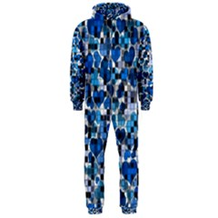 Hearts And Checks, Blue Hooded Jumpsuit (Men)