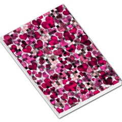 Hearts And Checks, Pink Large Memo Pads