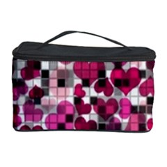 Hearts And Checks, Pink Cosmetic Storage Cases