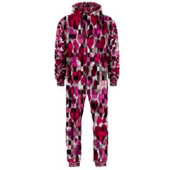Hearts And Checks, Pink Hooded Jumpsuit (Men)