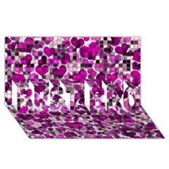 Hearts And Checks, Purple BEST BRO 3D Greeting Card (8x4)