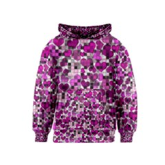 Hearts And Checks, Purple Kid s Pullover Hoodies