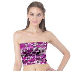 Hearts And Checks, Purple Women s Tube Tops