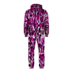 Hearts And Checks, Purple Hooded Jumpsuit (Kids)