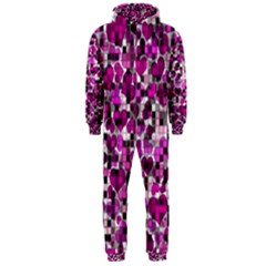 Hearts And Checks, Purple Hooded Jumpsuit (Men)