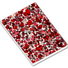Hearts And Checks, Red Large Memo Pads