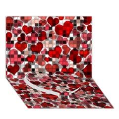 Hearts And Checks, Red Heart Bottom 3D Greeting Card (7x5)