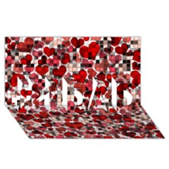 Hearts And Checks, Red #1 Dad 3d Greeting Card (8x4)