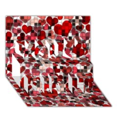 Hearts And Checks, Red You Did It 3D Greeting Card (7x5)