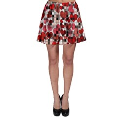 Hearts And Checks, Red Skater Skirts