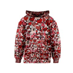 Hearts And Checks, Red Kid s Pullover Hoodies