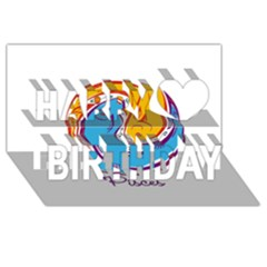 Pisces Star Sign Happy Birthday 3D Greeting Card (8x4)